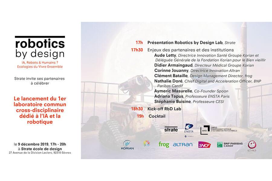 école de design Robotics by design Lab