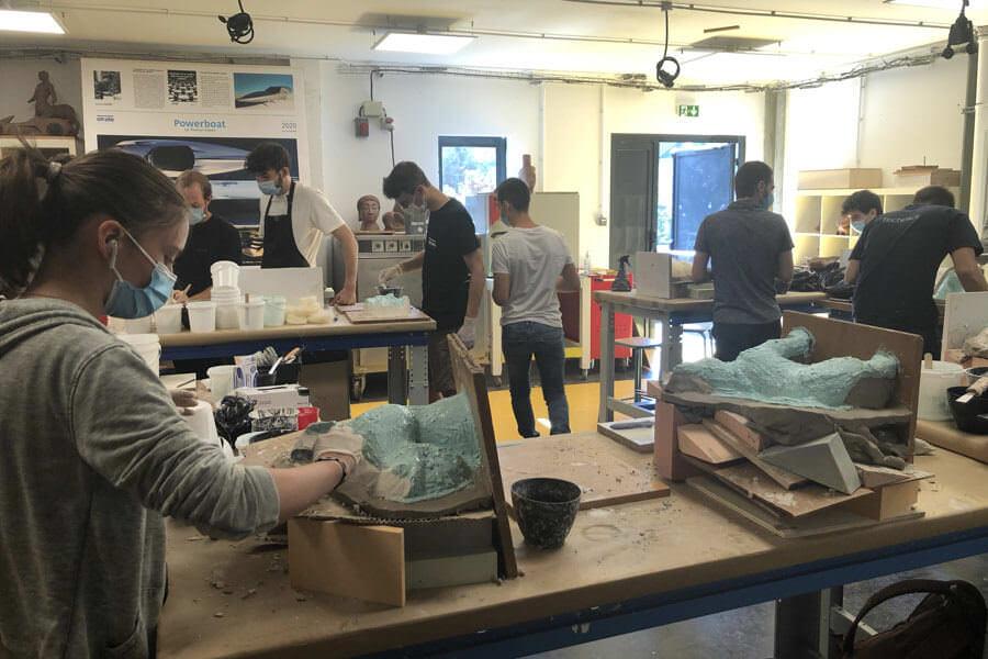 école de design ; modelage 3d ; moulage; sculpture