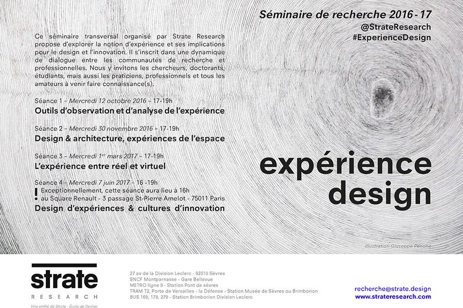 recherche séminaire expérience design