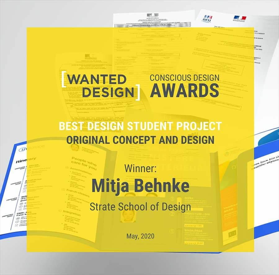 école de design ; Wanted Design Awards ; projet étudiant
