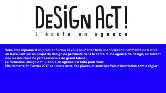 Design Act ! Ecole en agence